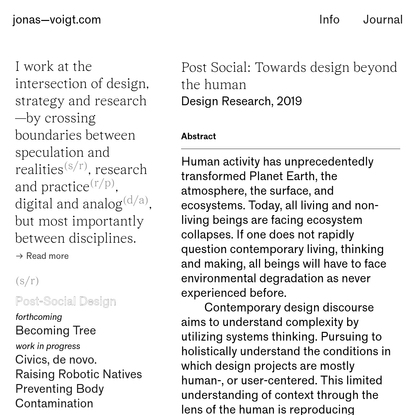 Post-Social Design - jonas-voigt.com