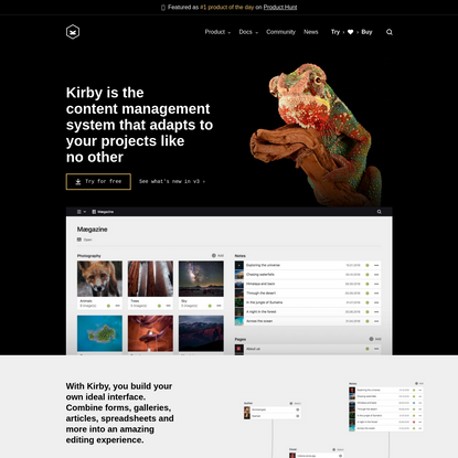 Kirby - The file-based content management system