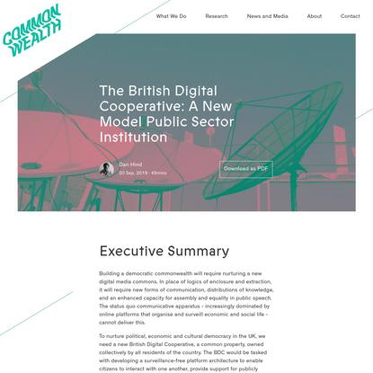 The British Digital Cooperative