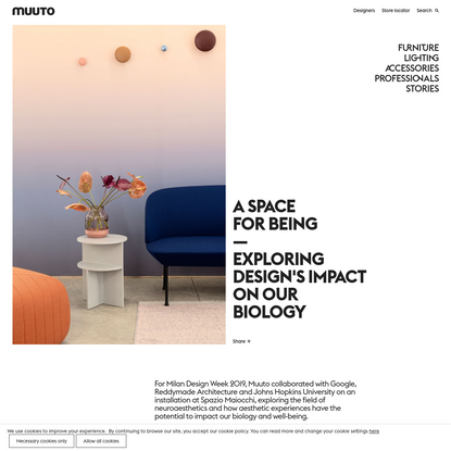 A Space for Being-Exploring Design's Impact on our Biology