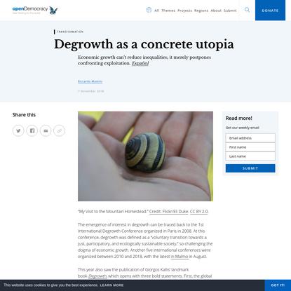 Degrowth as a concrete utopia