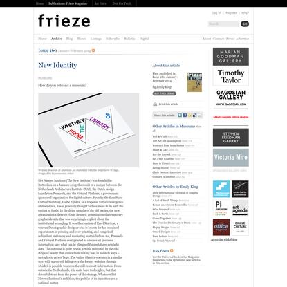 Frieze Magazine   Archive   New Identity