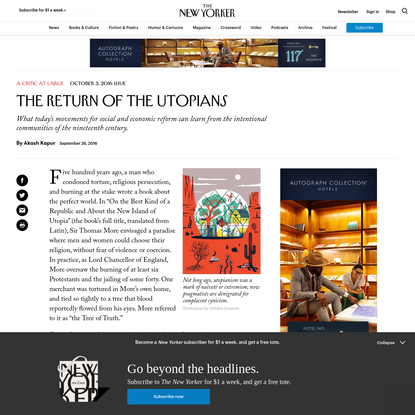 The Return of the Utopians