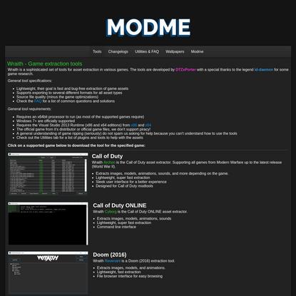 Modme - Game asset tools