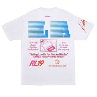 Fav back of tee for rolling loud LA I worked on with v talented @100br n @total_onslaught