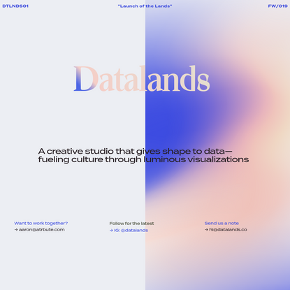 Datalands - Art, Data, Design