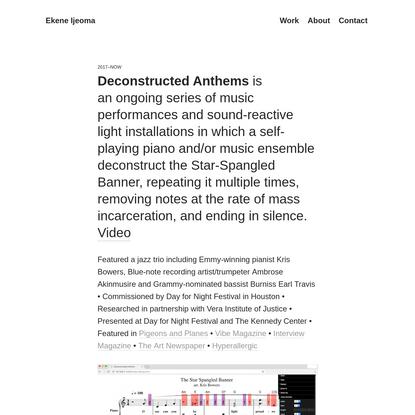 Deconstructed Anthems - Ekene Ijeoma