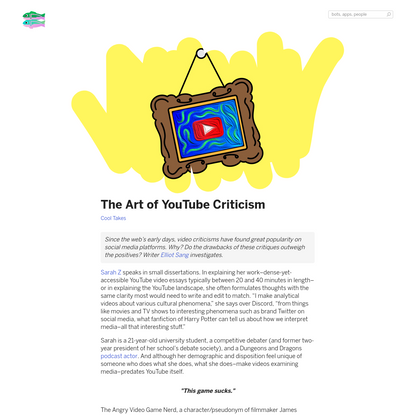 The Art of YouTube Criticism