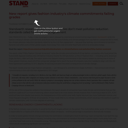 New report gives fashion industry's climate commitments failing grades
