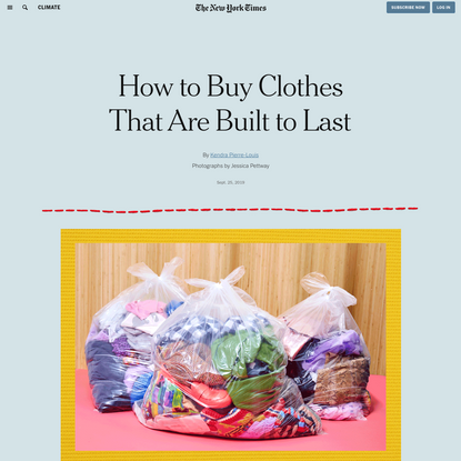 How to Buy Clothes That Are Built to Last