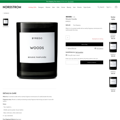 BYREDO Woods Candle | Nordstrom