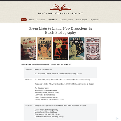 From Lists to Links: New Directions in Black Bibliography