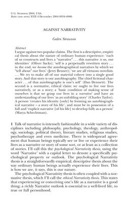 against_narrativity.pdf