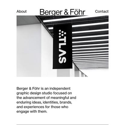 Berger & Föhr - Graphic & Brand Design