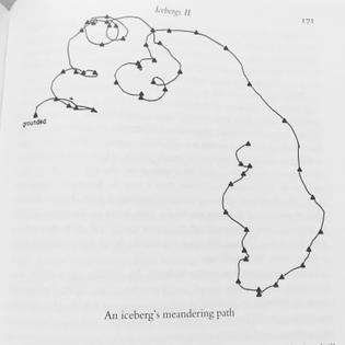 An Iceberg's Meandering Path