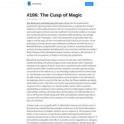 #106: The Cusp of Magic