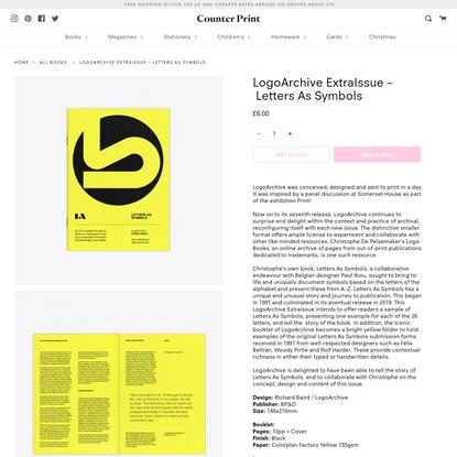 LogoArchive ExtraIssue - Letters As Symbols
