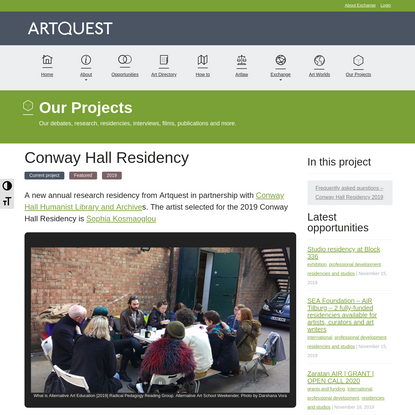 Artquest > Conway Hall Residency