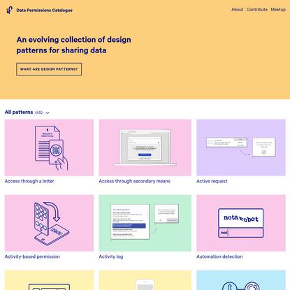 Data Patterns Catalogue - IF