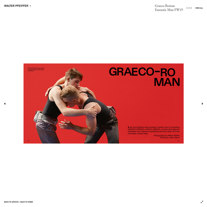 Art + Commerce - Artists - Photographers - Walter Pfeiffer - Graeco-Roman