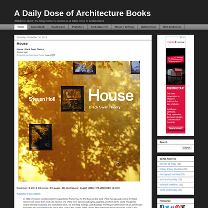 A Daily Dose of Architecture Books