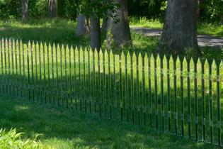 Mirror Fence, 2003 (refabricated 2014). Alyson Shotz.