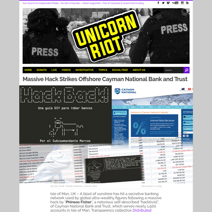 Massive Hack Strikes Offshore Cayman National Bank and Trust - UNICORN RIOT