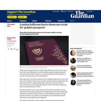 London ballroom hosts showcase event for 'golden passports'