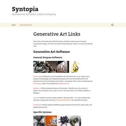 Generative Art Links