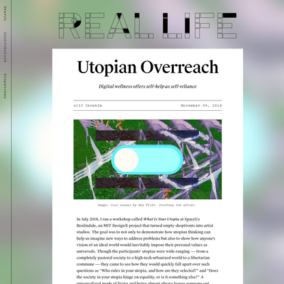 Utopian Overreach - Real Life