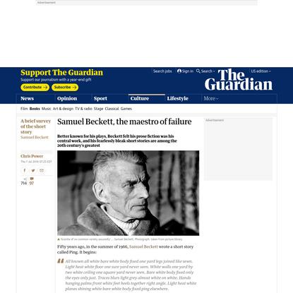 Samuel Beckett, the maestro of failure