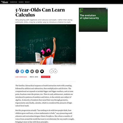 5-Year-Olds Can Learn Calculus