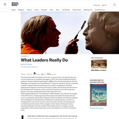 What Leaders Really Do