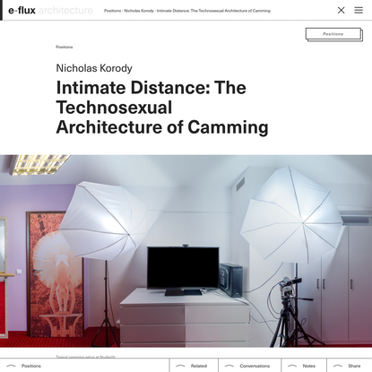 Intimate Distance: The Technosexual Architecture of Camming