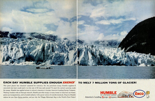 """each day Humble supplies enough energy to melt 7 million tons of glacier!"""