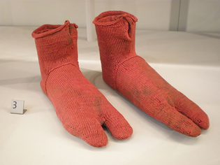 Egyptian wool socks, 1,500 years old.