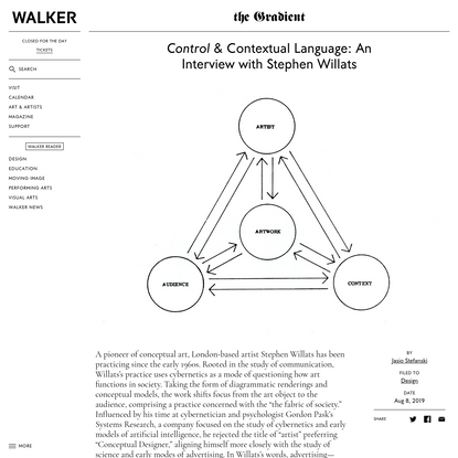 Control & Contextual Language: An Interview with Stephen Willats