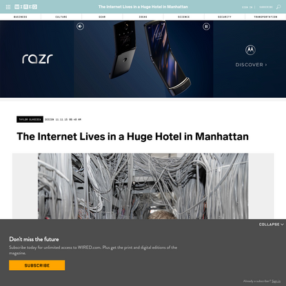 The Internet Lives in a Huge Hotel in Manhattan