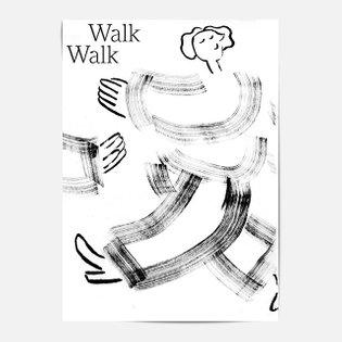 word: Walk by: @mariakanzler / Maria Kanzler . . . #poster #design #walk #illustration #minimal #blackandwhite #bw #tex...