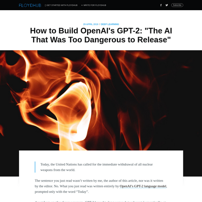 """GPT-2: How to Build """"The AI That's Too Dangerous to Release"""""""