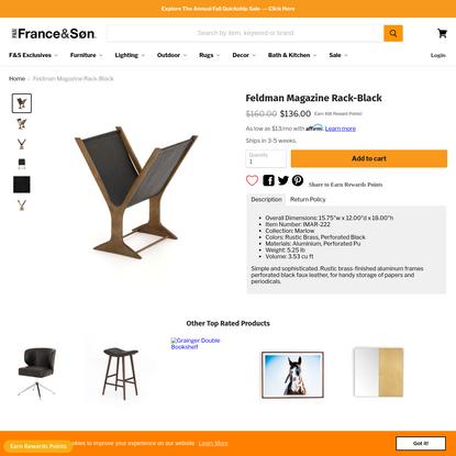 Feldman Magazine Rack-Black