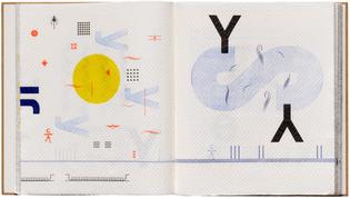 Romano Hänni, Typo Bilder Buch, handset and printed letterpress on paper towels, Basel, 2012, 27 x 47 cm