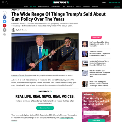 The Wide Range Of Things Trump's Said About Gun Policy Over The Years