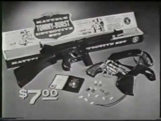 Mattel Tommy Burst Toy Gun Commercial From The 60's - Vintage advertising