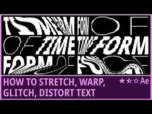 How to Stretch, Warp, Glitch, Distort Text (2)   Kinetic Typography   Slit-Scan   AfterEffects