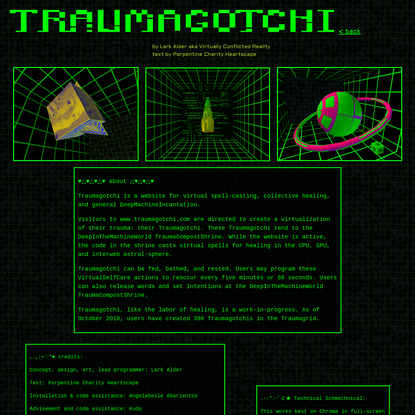 TRAUMAGOTCHI | about