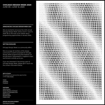 Chicago Design Week 2020