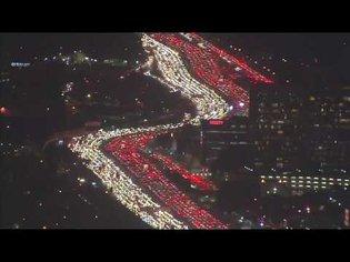 Thanksgiving Traffic Jam Los Angeles 405 Freeway at Complete standstill 11/23/2016