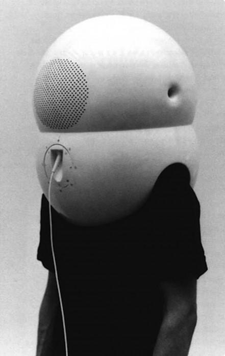 Walter Pichler television helmet