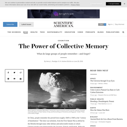 The Power of Collective Memory